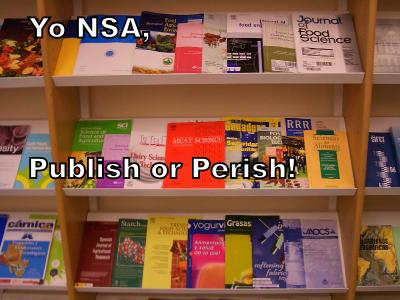 Yo NSA, Publish or Perish