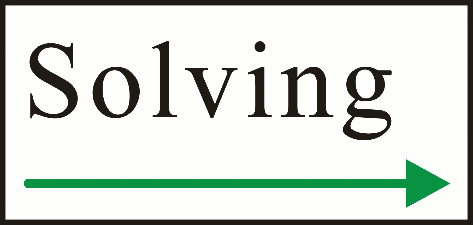 the solving logo in various versions